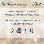 LGC vous souhaite ses meilleurs voeux pour l'année 2018